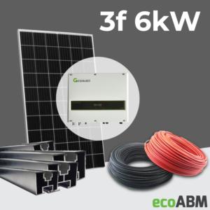 Zestaw fotowoltaiczny PV mono 3f 6kW dach skośny