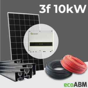 Zestaw fotowoltaiczny PV mono 3f 10kW dach skośny