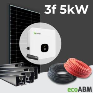 Zestaw fotowoltaiczny PV mono Longi 3f 5kW dach skośny