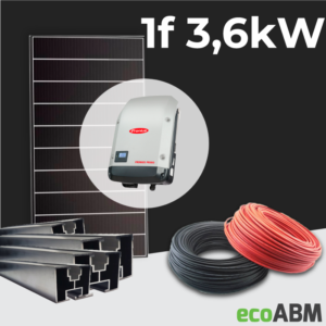 Zestaw fotowoltaiczny PV mono Hyundai 1f 3,6kW dach skośny