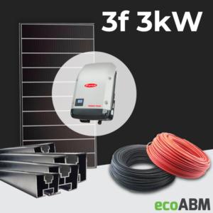 Zestaw fotowoltaiczny PV mono Hyundai 3f 3kW dach skośny