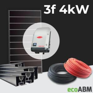 Zestaw fotowoltaiczny PV mono Hyundai 3f 4kW dach skośny