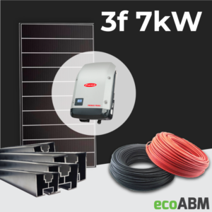 Zestaw fotowoltaiczny PV mono Hyundai 3f 7kW dach skośny