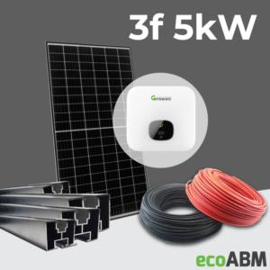 Zestaw fotowoltaiczny PV mono 3f 5kW dach skośny