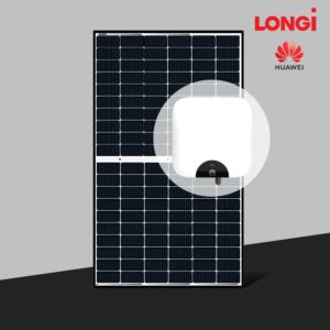 Zestaw fotowoltaiczny PV Longi Solar Huawei 1f 3,6kW dach skośny